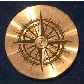 Ronjo Okito Box Lid Compass 2, Silver Dollar