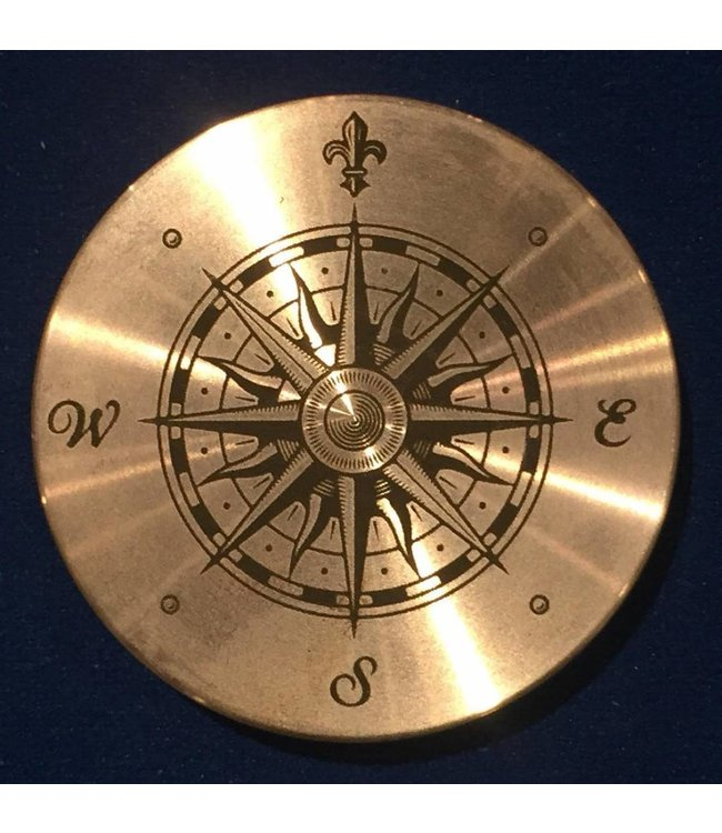 Ronjo Okito Box Lid Compass 1, Half Dollar