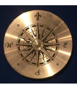 Ronjo Okito Box Lid Compass 1, Silver Dollar