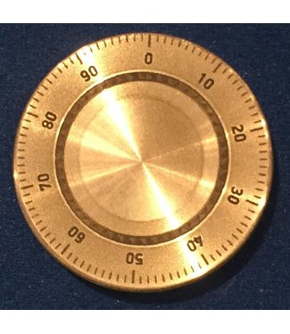 Ronjo Okito Box Lid Combination Dial, Quarter Dollar