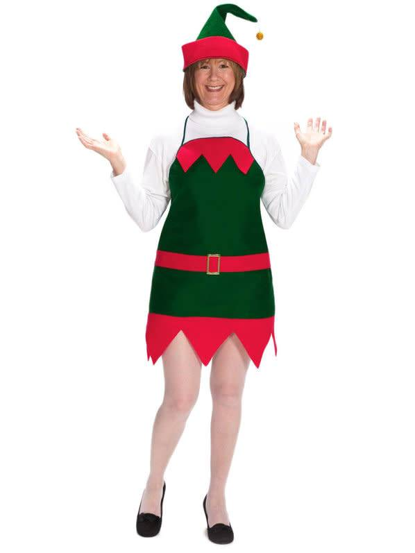 291c9457c9bce Christmas Elf Apron and Hat - Adult One Size (Halco)