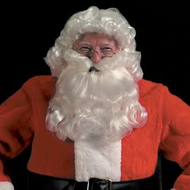 Halco Curly Deluxe Santa Beard And Wig Set