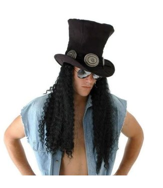 Elope Guitar Superstar Plush Hat with Hair by Elope