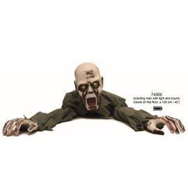 "Funny Fashion Crawling Corpse w/Light/Sound 40"" zombie"