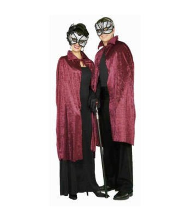 """RG Costumes And Accessories 44"""" inch Burgundy Velvet Hooded Cape"""