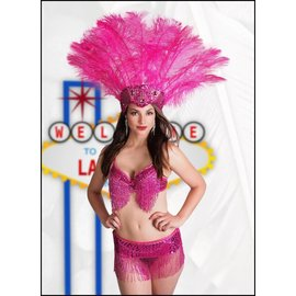 Samba Bra Sequin/Beaded/Fringe, Red- M/L by Western Fashion Inc.