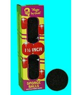 2 inch 4 Super Soft Sponge Balls - Black (M13)