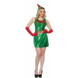 Forum Novelties Sequin Elf Dress M/L