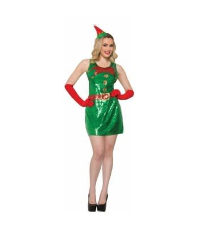 Forum Novelties Sequin Elf Dress M/L
