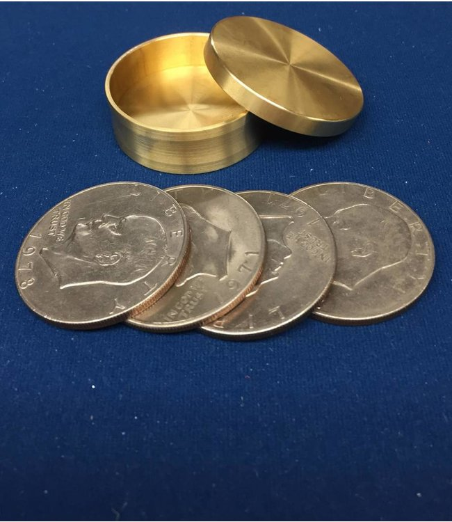 Ronjo Okito Box Boston Silver Dollar 4 Coin, Beveled - By Ronjo
