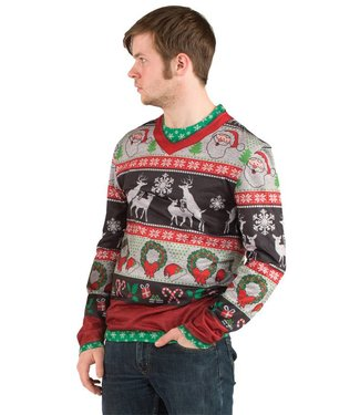 Christmas Sweater, Frisky Deer XXL