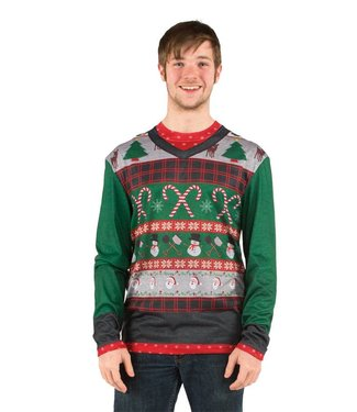 Christmas Sweater, Candy Canes XL