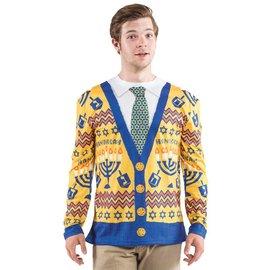 Hanukkah Sweater, XXL By Faux Real