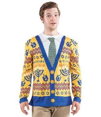 Hanukkah Sweater, XXL By Faux Real