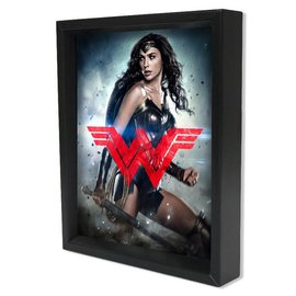 Shadowbox - Wonderwoman Batman v Superman – DOJ – WW Logo by Pyramid America