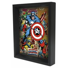 Shadowbox - Captain America – Panels by Pyramid America