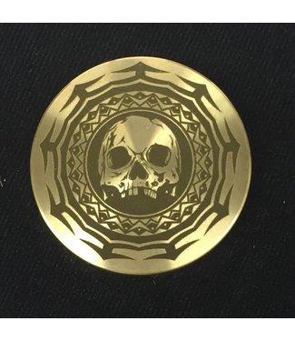 Ronjo Okito Box Lid Tribal Skull, Quarter