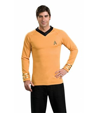 Rubies Costume Company Star Trek Classic Gold Shirt - Captain Kirk, XL