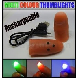 Ronjo Cosmic Rays Multicolor Pair, Thumblights - Rechargeable