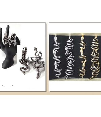 Snake Ring - Silver & Gold (assorted)