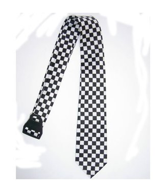 Necktie Black and White Checkerboard by American Passion