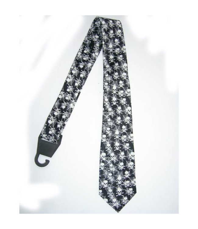 Necktie Spider Web Skull and Crossbones by american passion