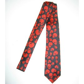 Necktie Red Skulls by american passion
