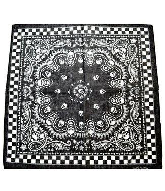 Bandana Paisley Skulls Checkerboard