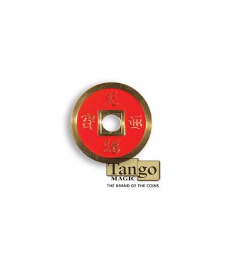 Dollar Size Chinese Coin, Red CH032 by Tango Magic