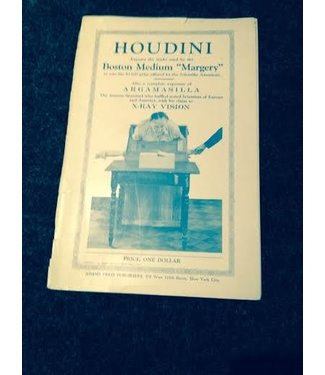 Book - USED Houdini Exposes The Tricks Used By Boston Medium Margery 1924 Front cover off (wear) but present, book yellowed VG (M7)