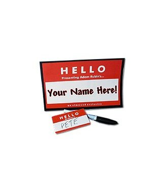 Your Name Here by Adam Rubin from Elmwood Magic