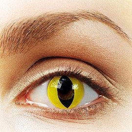 Fine And Clear Yellow Cat Contact Lenses