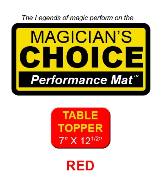 Ronjo Performance Mat Table Topper, Red 7x12.5 inch