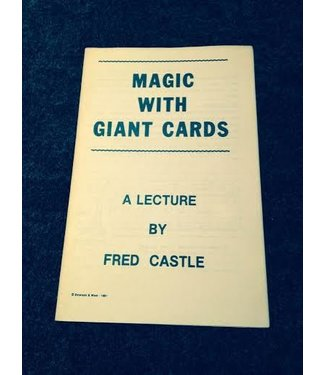 USED Magic With Giant Cards A Lecture By Fred Castle and Emerson And West - Book (M7)