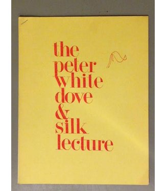 USED The Peter White Dove and Silk Lecture - Book