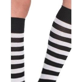 Striped Socks Black/White by Costume Mates (C14)