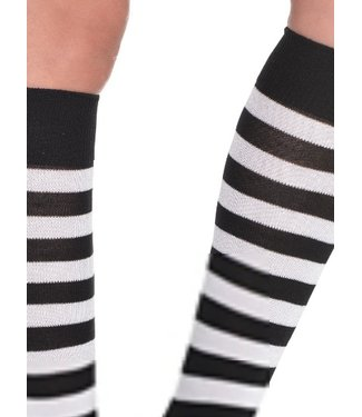 Striped Socks Black/White (C14)