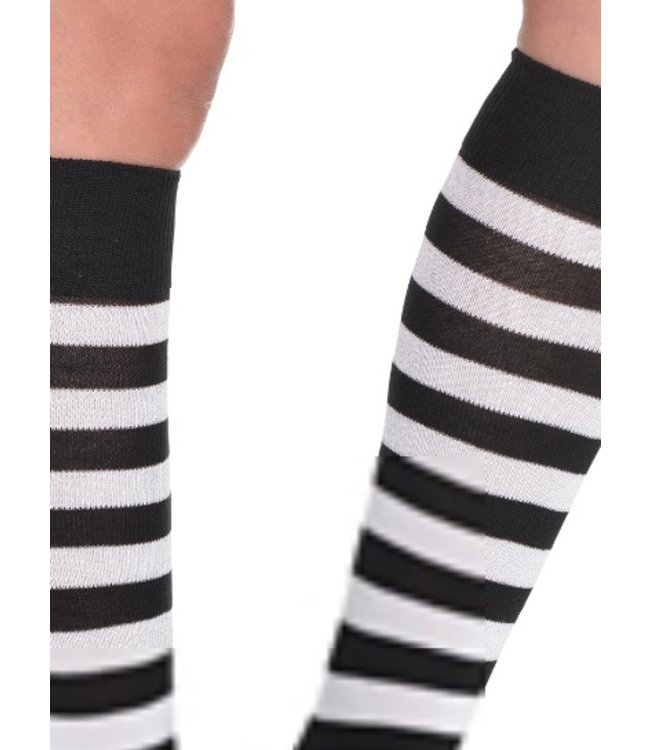 Striped Socks Black/White by Costume Mates (C14)