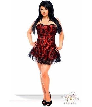 Corset Dress - Lavish Red  - Plus Size 6X by Daisy Corsets