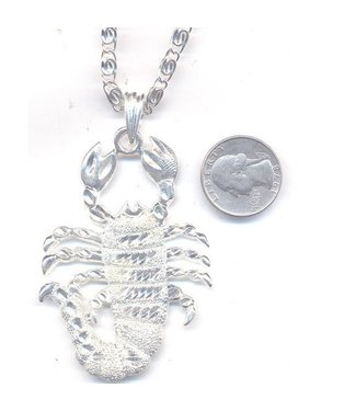 Scorpion Necklace Silver (C4)