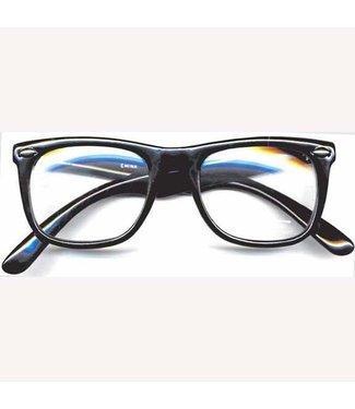 Black Frame Glasses w/Lenses