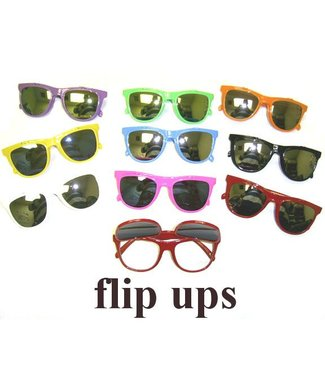Flip Up Sunglasses Yellow
