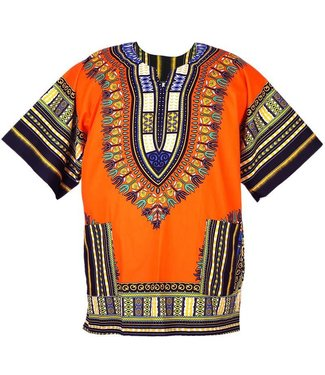 Dashiki Shirt, Plus Size - Assorted Colors by Flashback And Freedom Inc