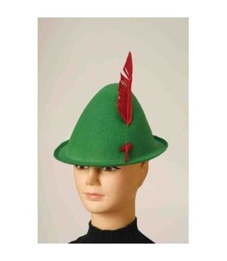 Forum Novelties Green Alpine Hat With Feather (320)