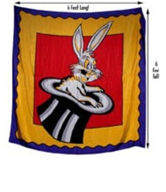 Silk Rabbit in the Hat, 6 Foot Square by Royal Magic(M11)
