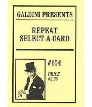 Repeat Select A Card by Galdini (M12)