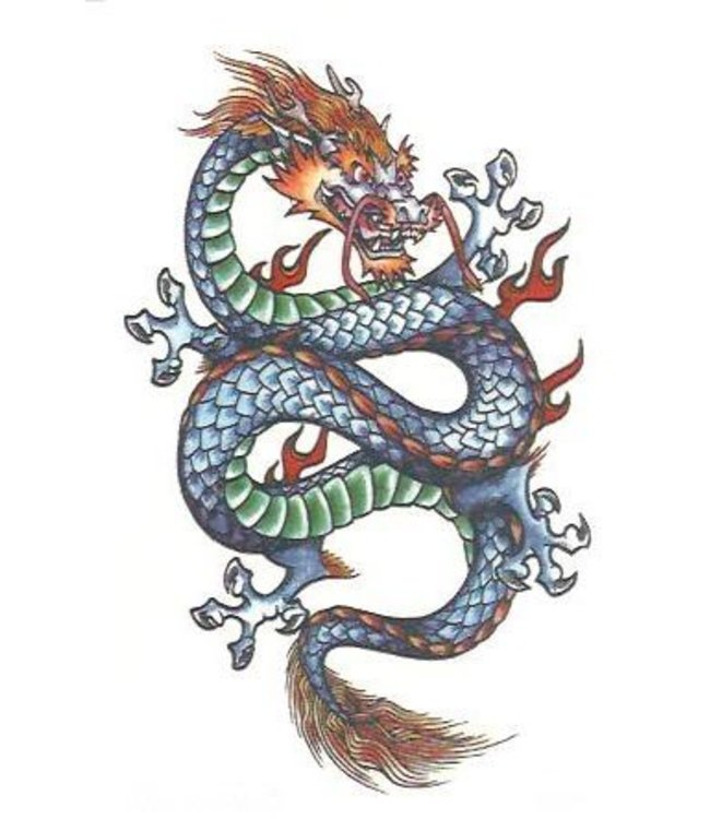 Fantasy Dragon Temporary Tattoos by Johnson And Mayer