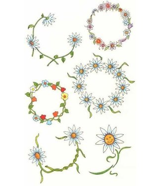 Daisy Belly Temporary Tattoos by Johnson And Mayer