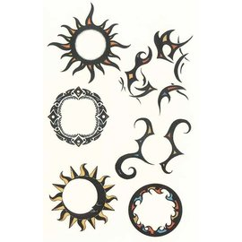 Johnson And Mayer Tribal Sun Temporary Tattoos by Johnson And Mayer