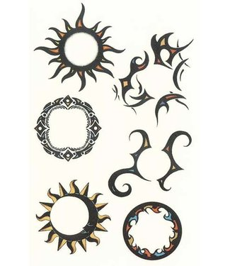 Tribal Sun Temporary Tattoos by Johnson And Mayer